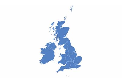 Blue Outline Of The United Kingdom