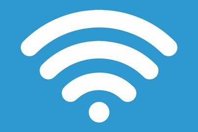 A Wireless Symbol On A Blue Background