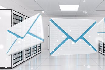 Email Icons Flying In Datacentre