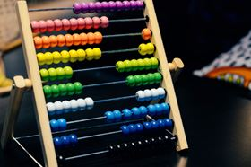 A Abacus With Different Coloured Beads